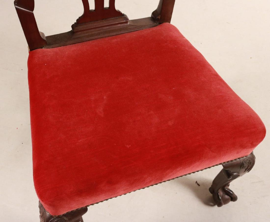 George II Carved Mahogany Side Chair - 5