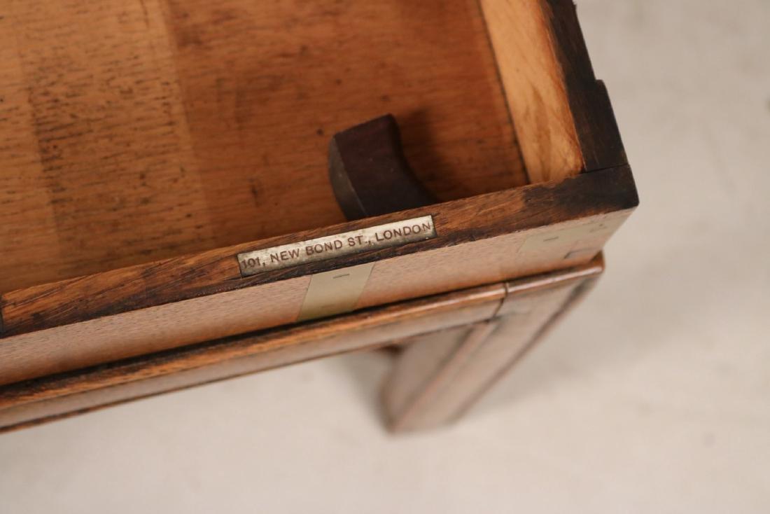 Regency Brass-Bound Oak Lap Desk-on-Stand - 5