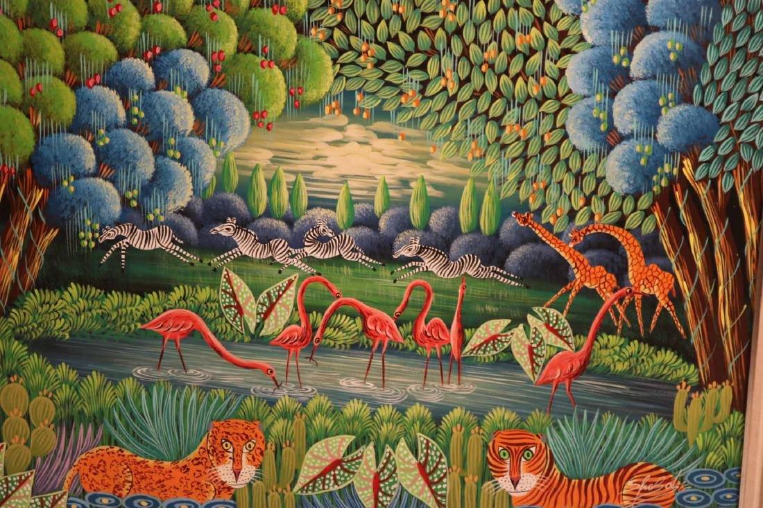 Oil on Board, Whimsical Jungle Scene - 2