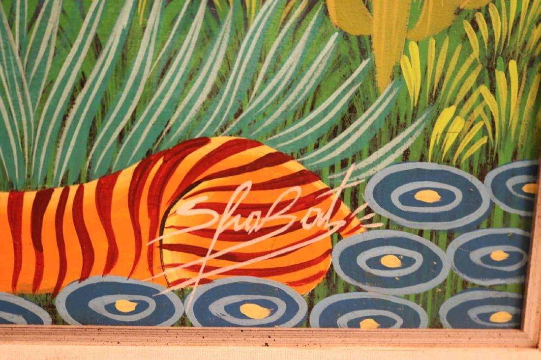 Oil on Board, Whimsical Jungle Scene - 4