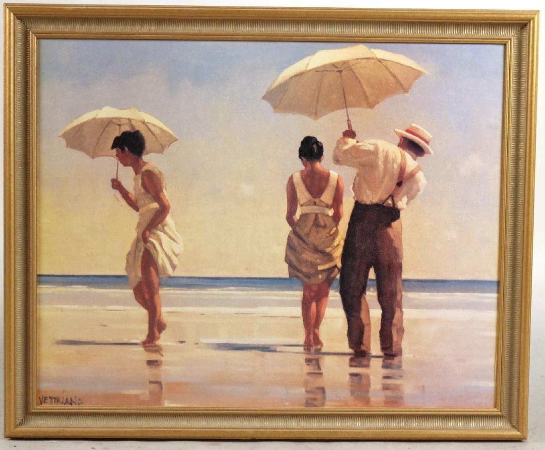 Print, Beach Umbrellas, Jack Vettriano