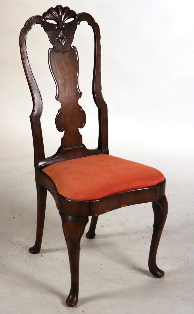 Baroque Style Mahogany Side Chair