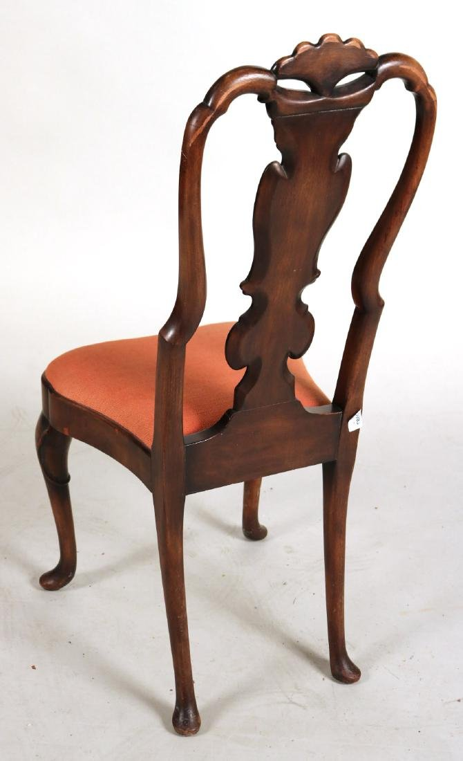 Baroque Style Mahogany Side Chair - 7
