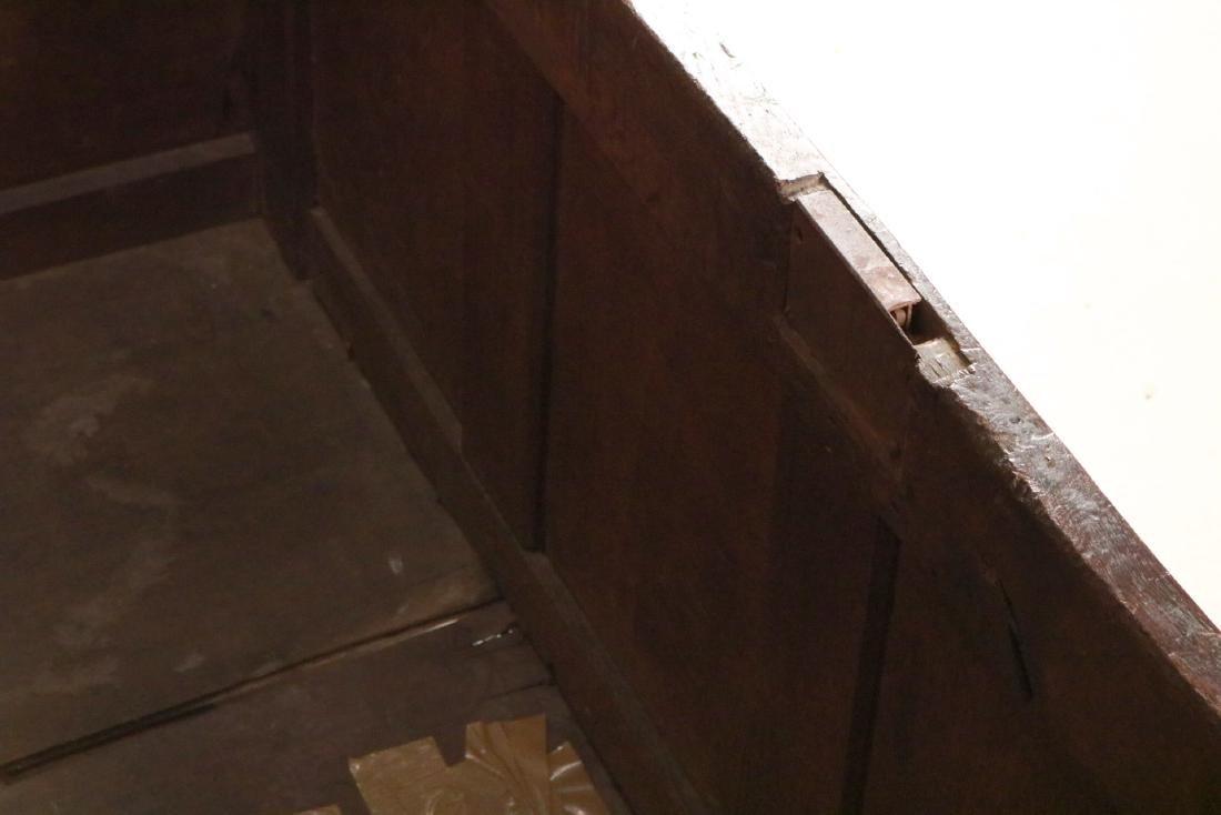 Elizabethan Carved Oak Coffer - 10