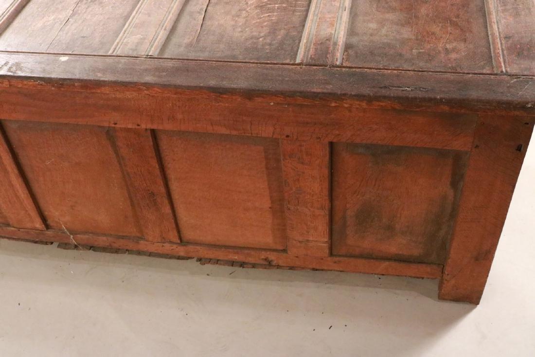 Elizabethan Carved Oak Coffer - 7