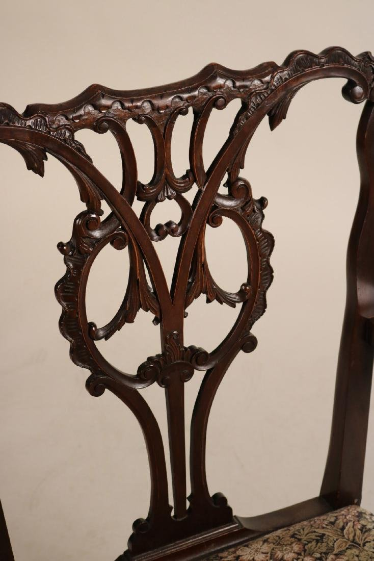 Pair of George III Style Mahogany Open Armchairs - 4