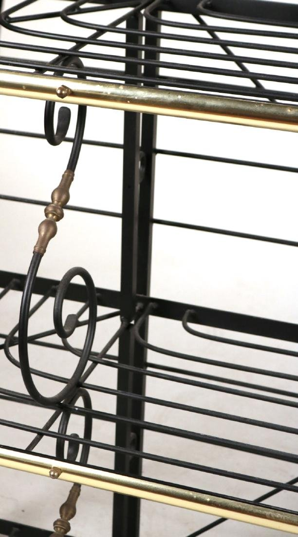 Wrought-Iron and Brass Hanging Baker's Rack - 2