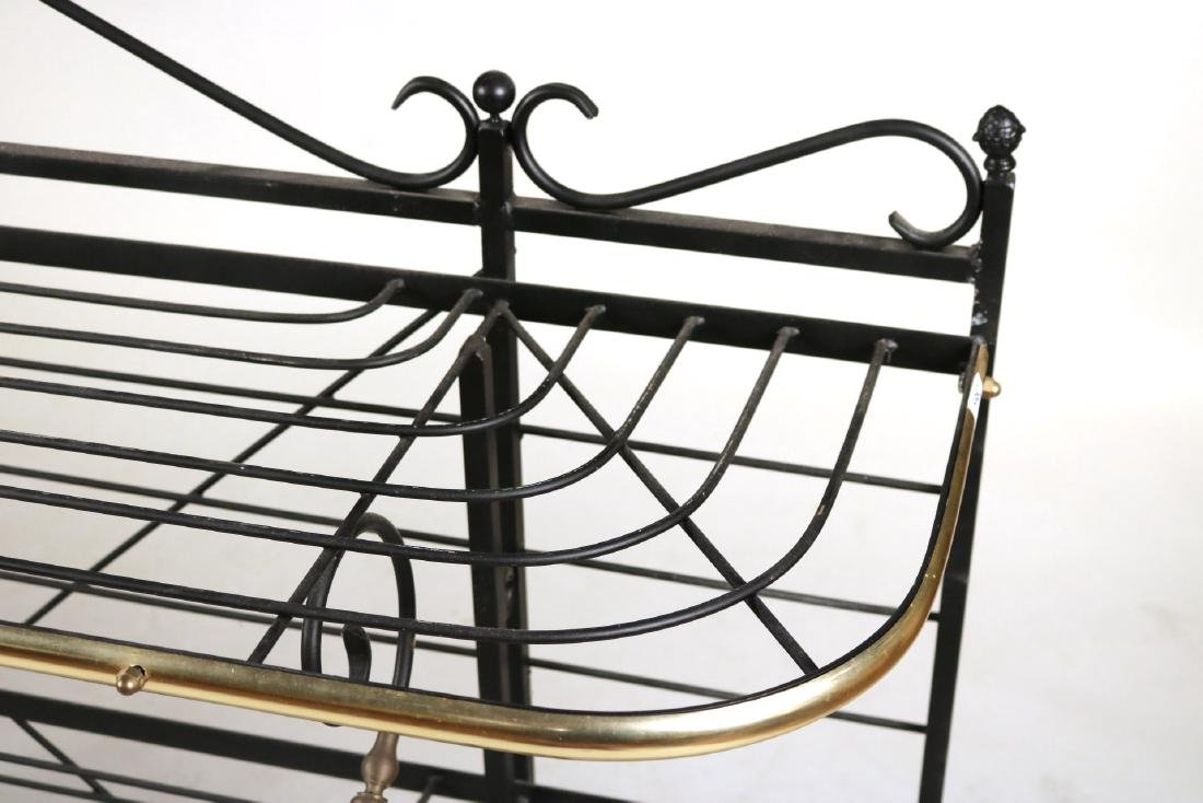 Wrought-Iron and Brass Hanging Baker's Rack - 3