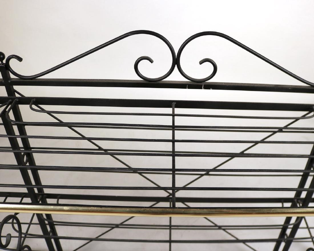Wrought-Iron and Brass Hanging Baker's Rack - 4