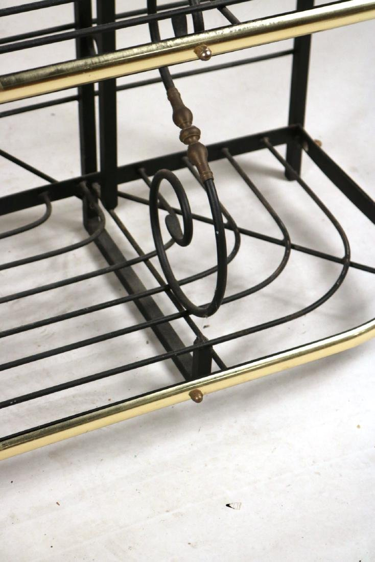 Wrought-Iron and Brass Hanging Baker's Rack - 5