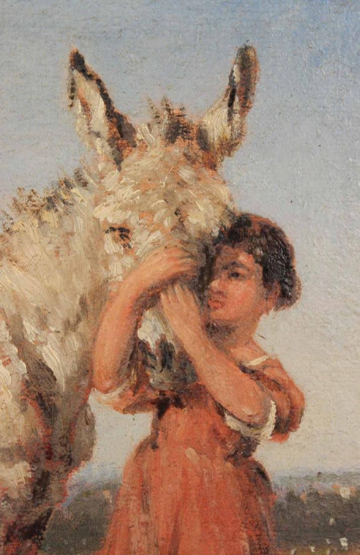 Oil on Canvas, Girl with Donkey - 3