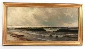 Oil on Canvas Maritime Scene Alfred Bricher