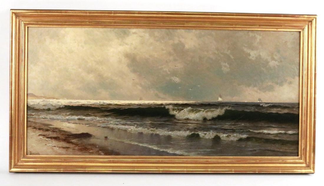 Oil on Canvas, Maritime Scene, Alfred Bricher