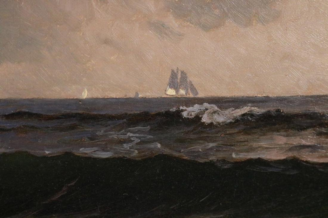 Oil on Canvas, Maritime Scene, Alfred Bricher - 5