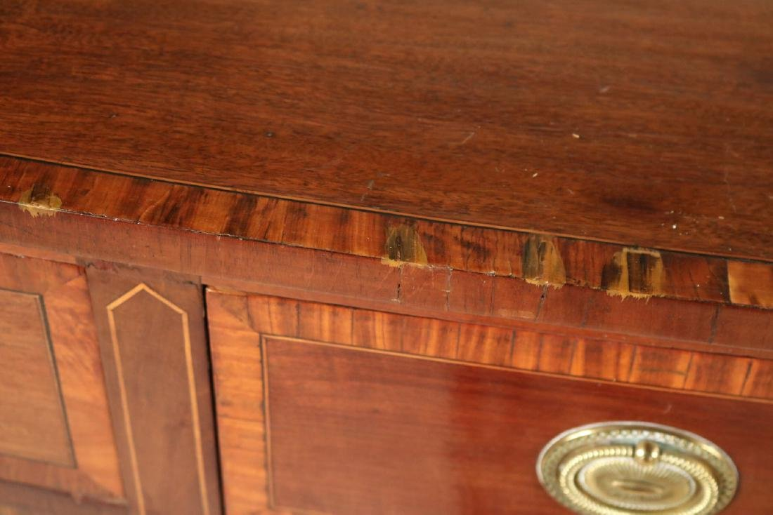 George II Style Inlaid Mahogany Sideboard - 3