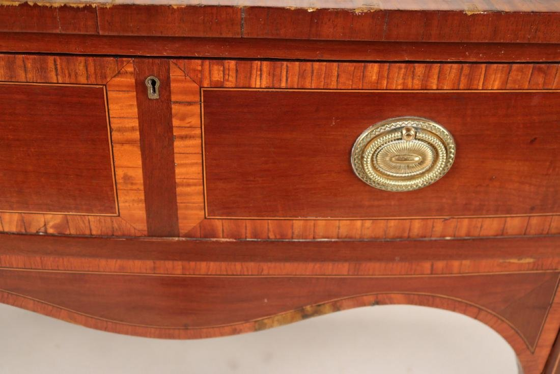 George II Style Inlaid Mahogany Sideboard - 9