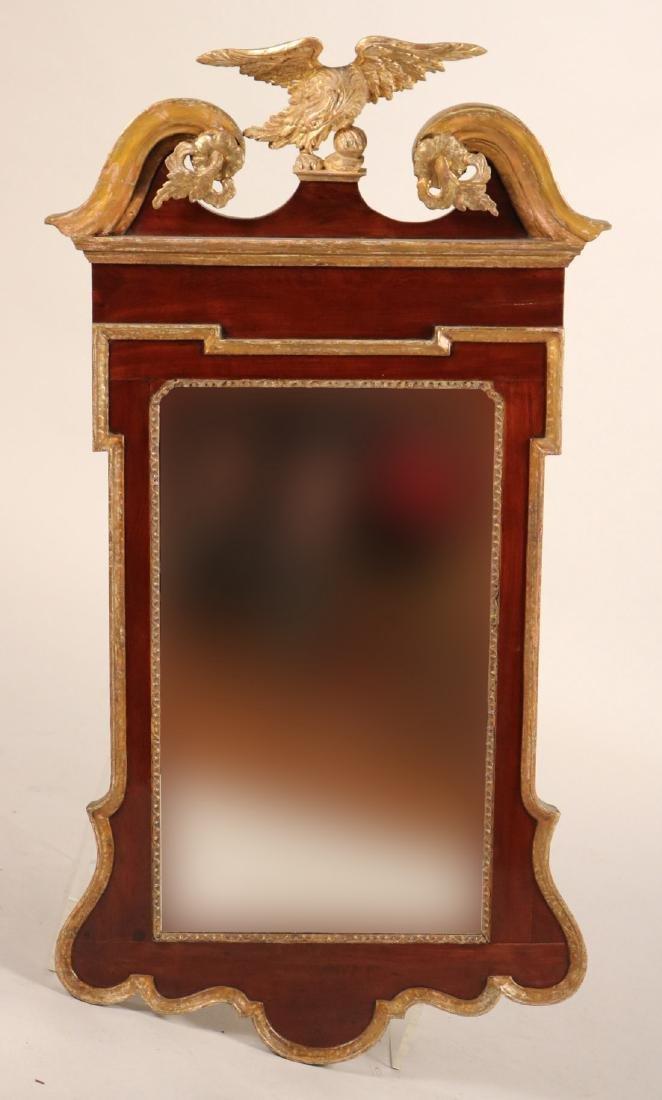 Chippendale Parcel-Gilt Mahogany Mirror
