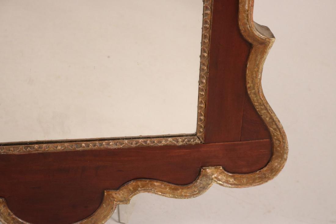 Chippendale Parcel-Gilt Mahogany Mirror - 5