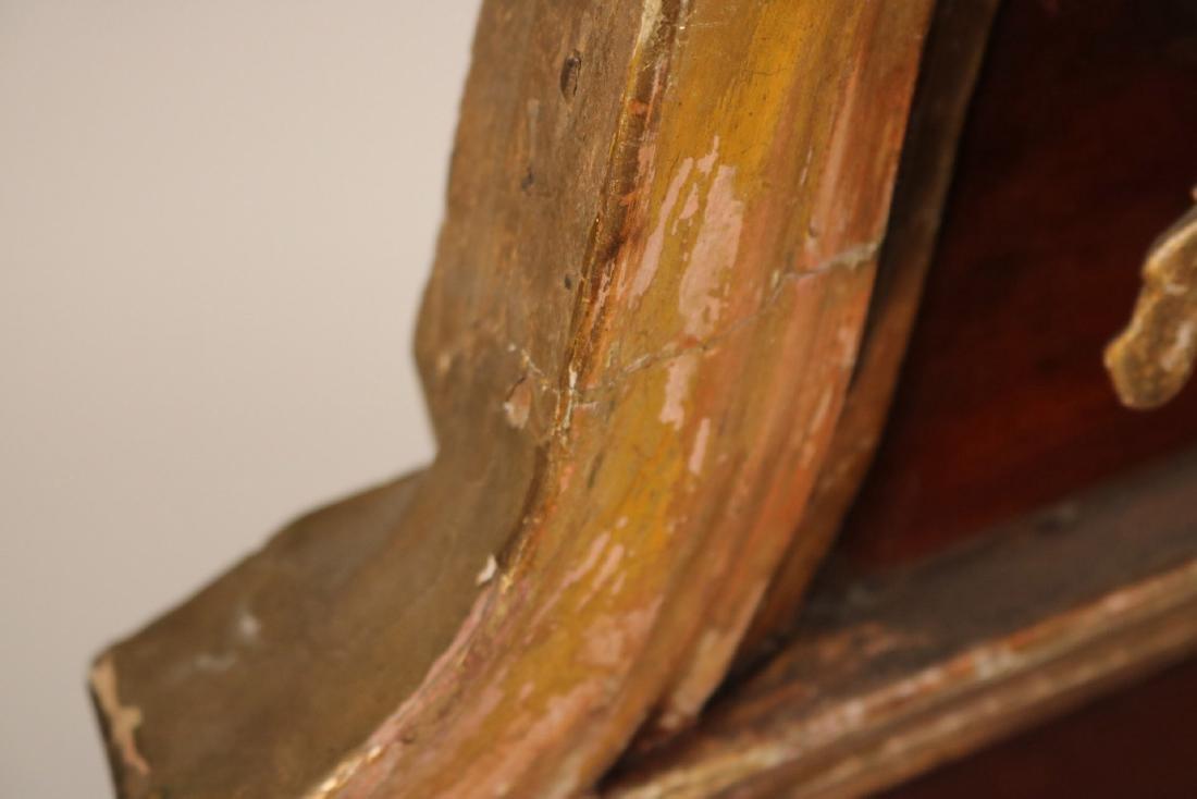 Chippendale Parcel-Gilt Mahogany Mirror - 7