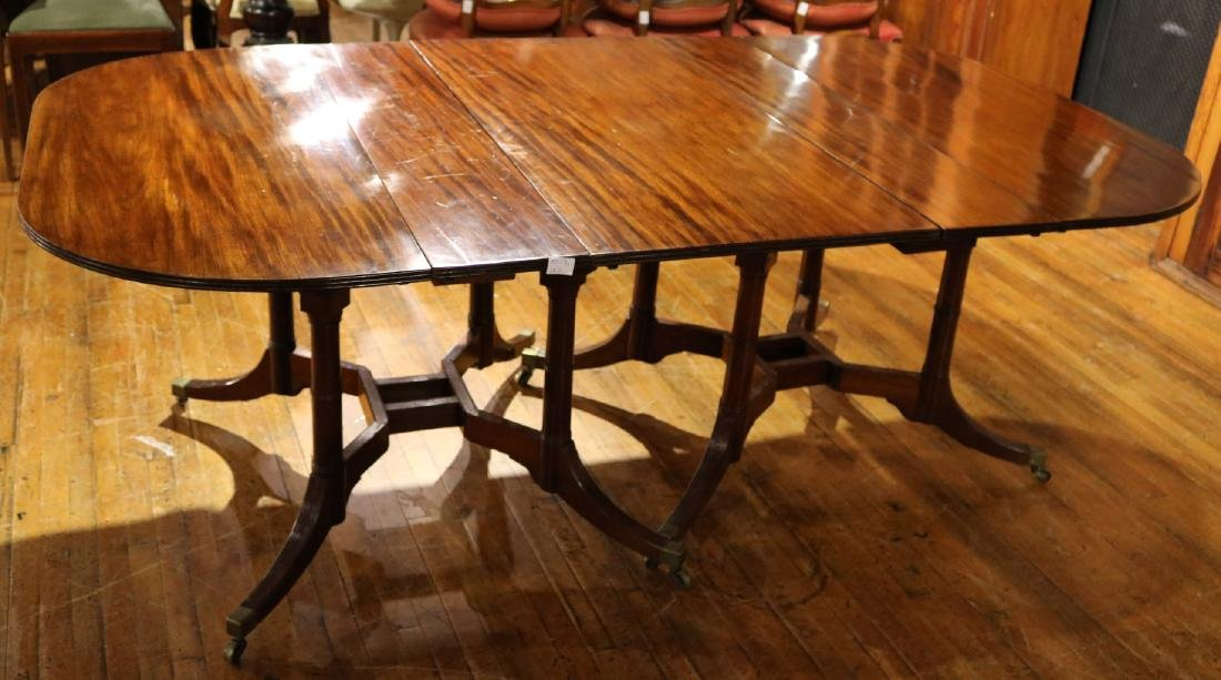 Classical Mahogany Cumberland Action Dining Table
