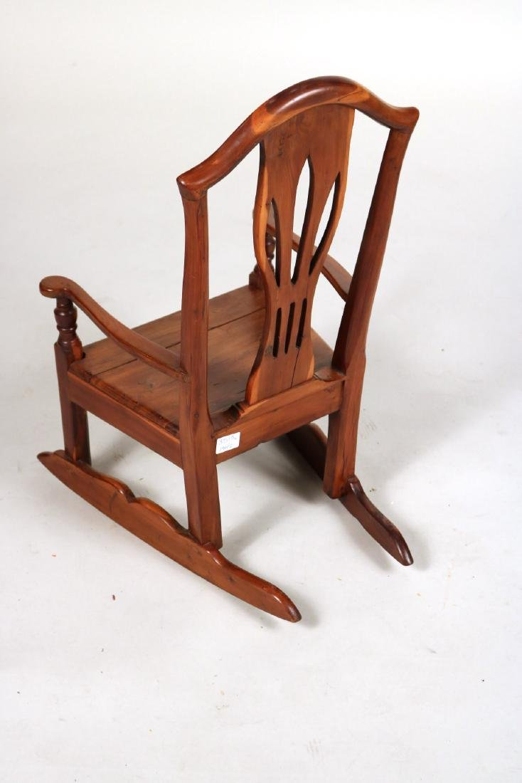 Hepplewhite Cedar Child's Rocker - 6