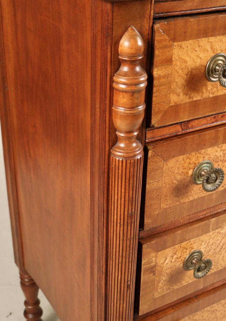 Federal Birch and Maple Chest of Drawers - 6