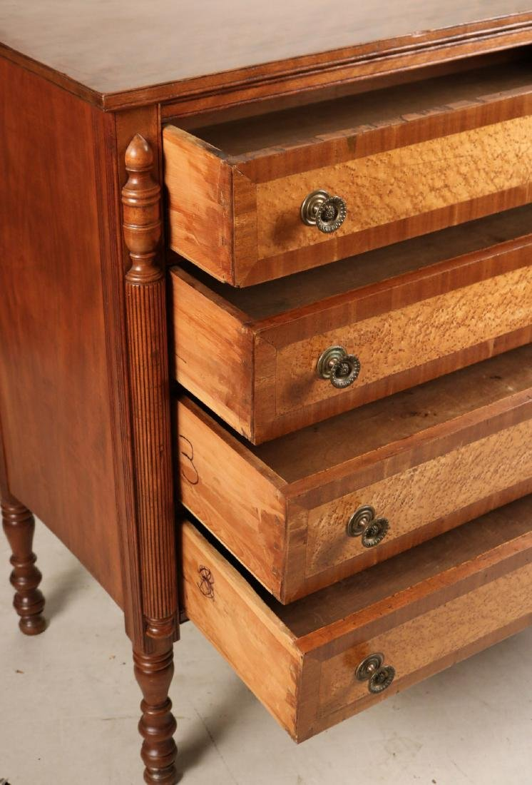 Federal Birch and Maple Chest of Drawers - 7