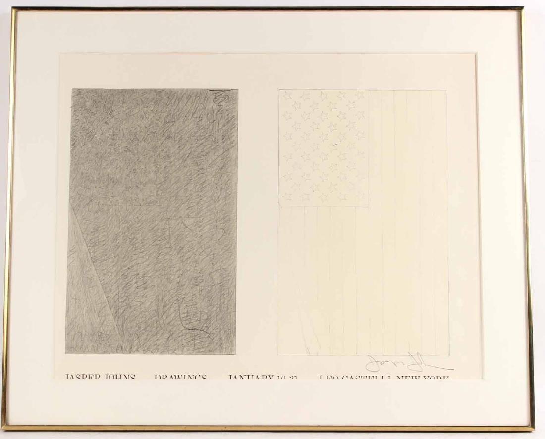 Jasper Johns Signed Poster Leo Castelli