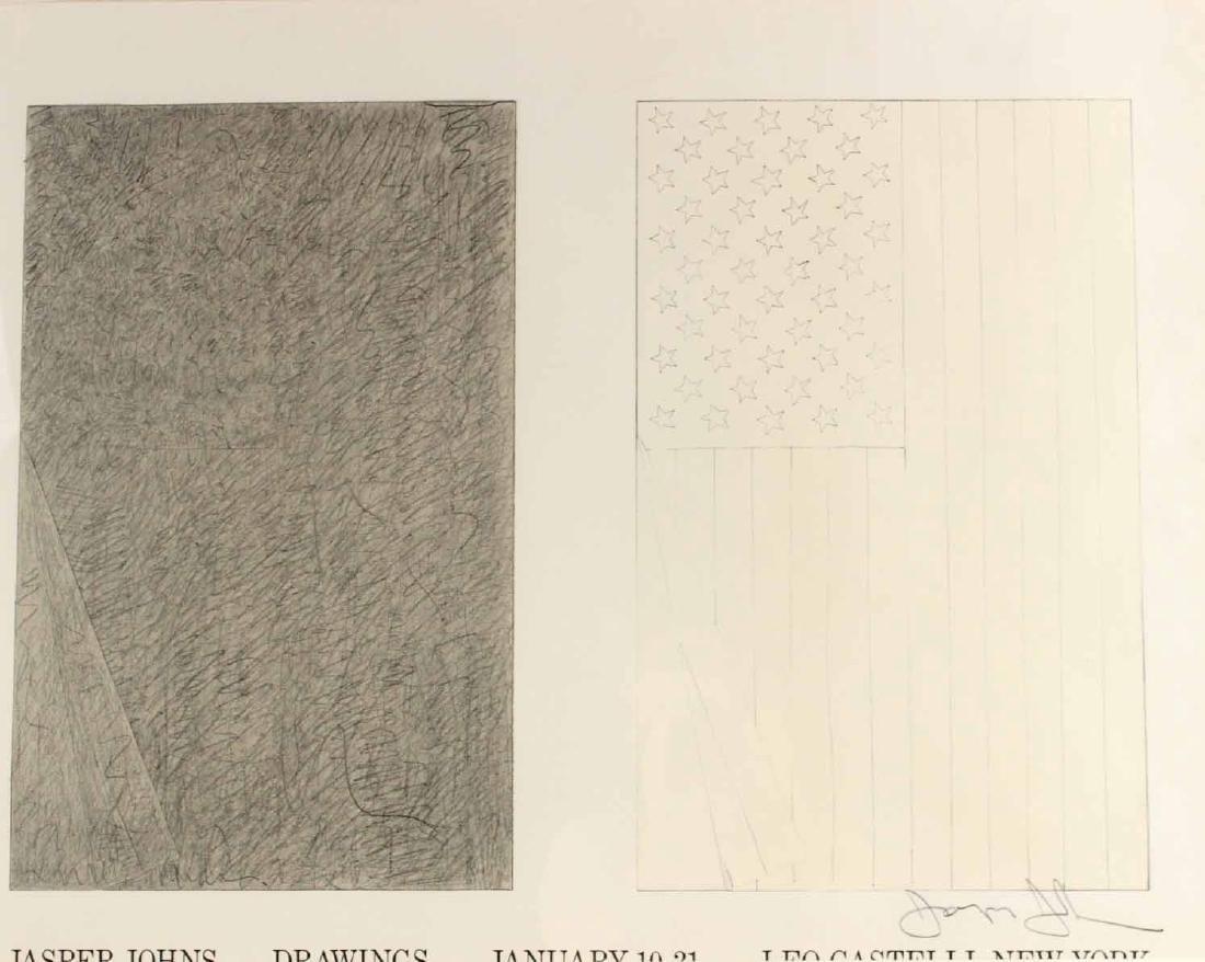 Jasper Johns Signed Poster Leo Castelli - 2
