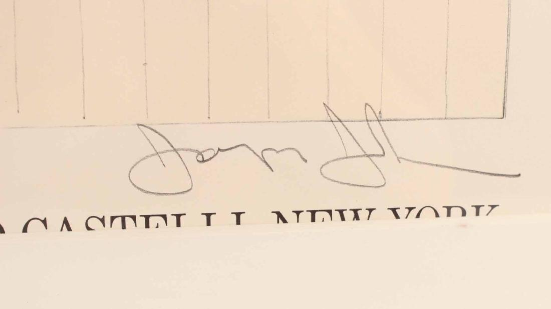 Jasper Johns Signed Poster Leo Castelli - 3