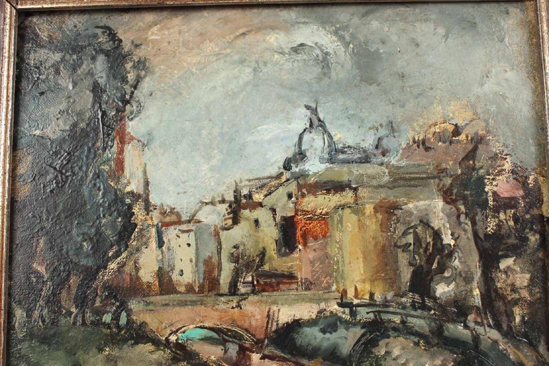 """Oil on Board, """"Bucharest,"""" Jeanne Daour - 3"""