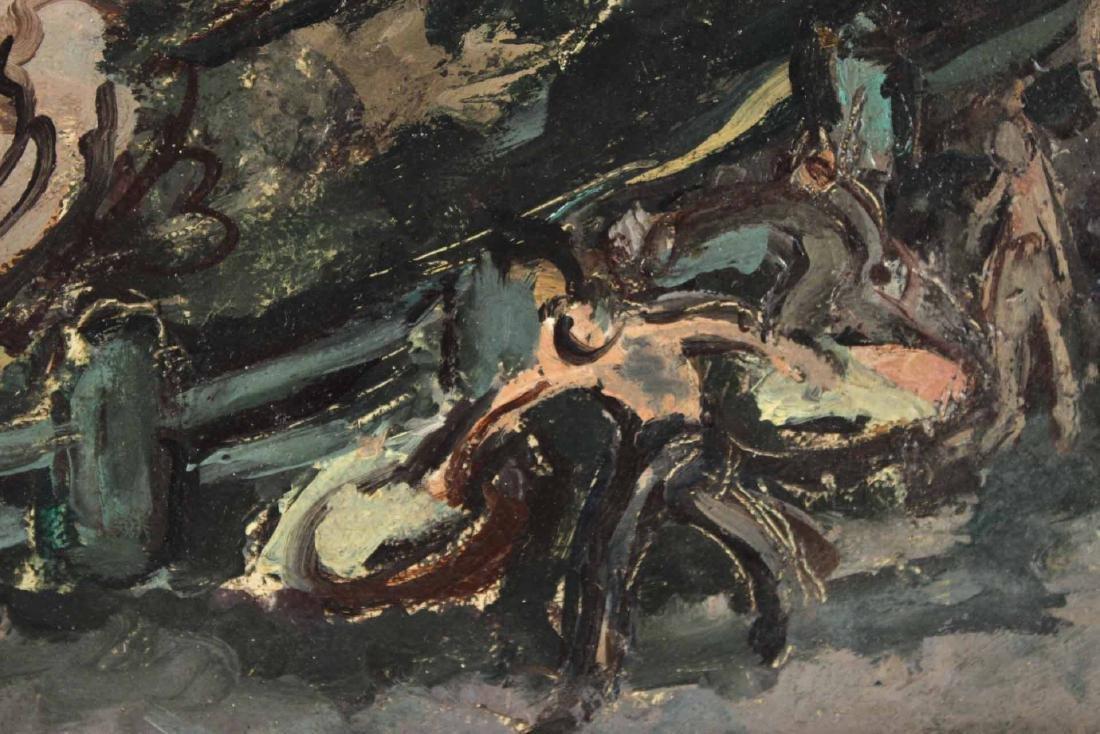 """Oil on Board, """"Bucharest,"""" Jeanne Daour - 4"""