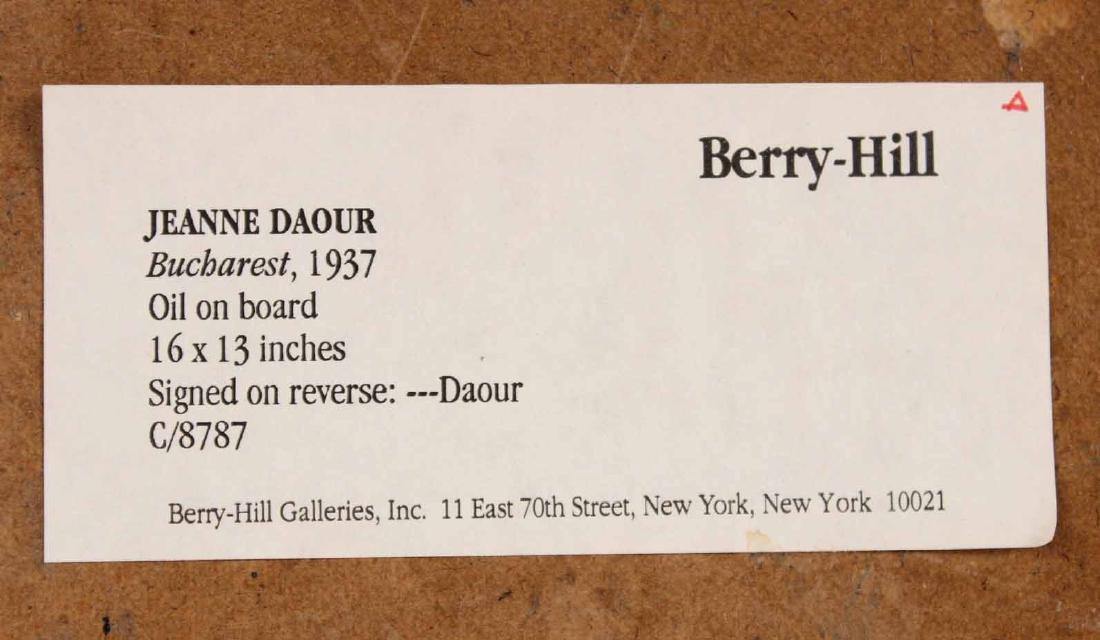 """Oil on Board, """"Bucharest,"""" Jeanne Daour - 7"""