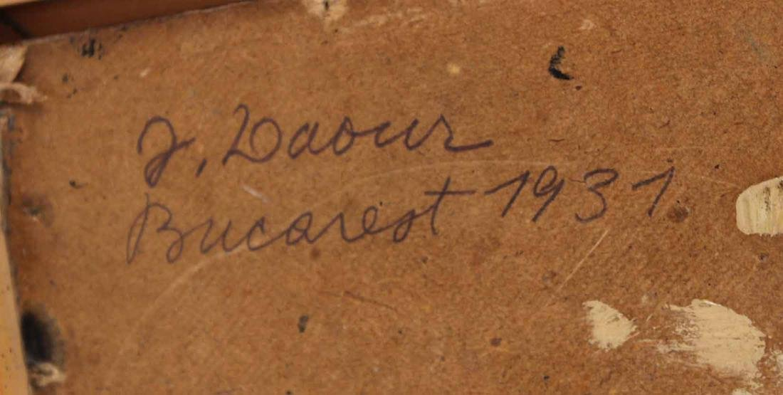 """Oil on Board, """"Bucharest,"""" Jeanne Daour - 8"""