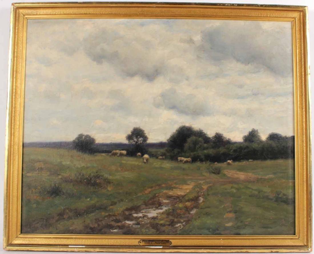 Oil on Canvas, Bucolic Scene, William E. Norton