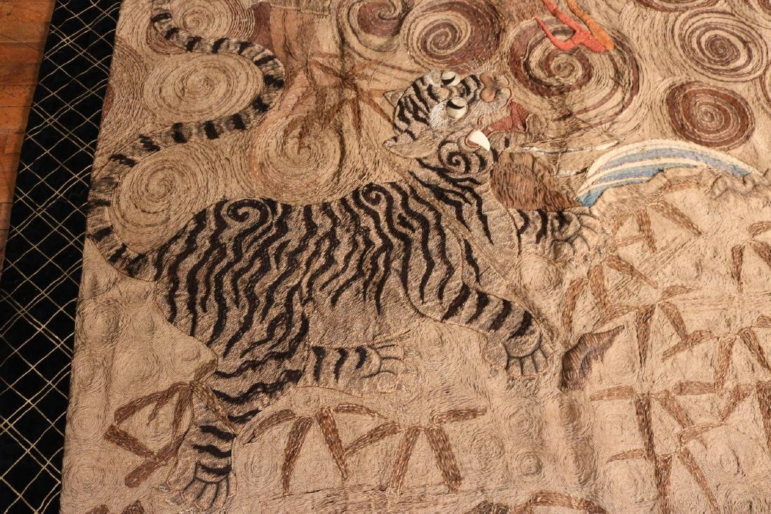 Chinese Swirling Dragon and Tiger Embroidery - 4