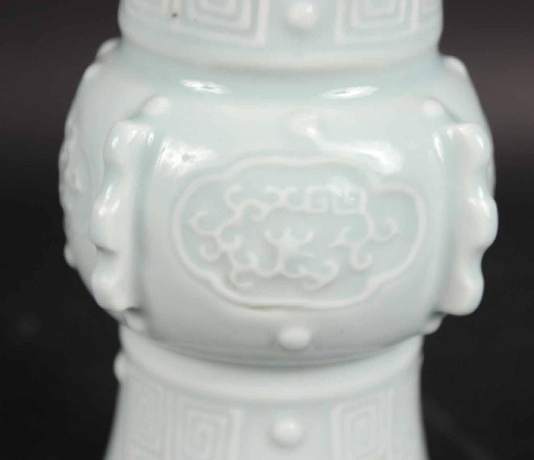 Chinese Glazed Light Blue Vase - 2