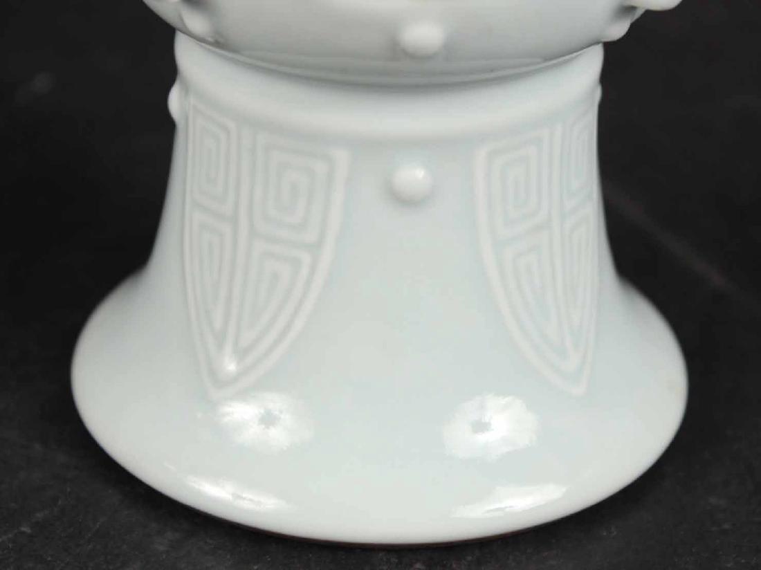Chinese Glazed Light Blue Vase - 3