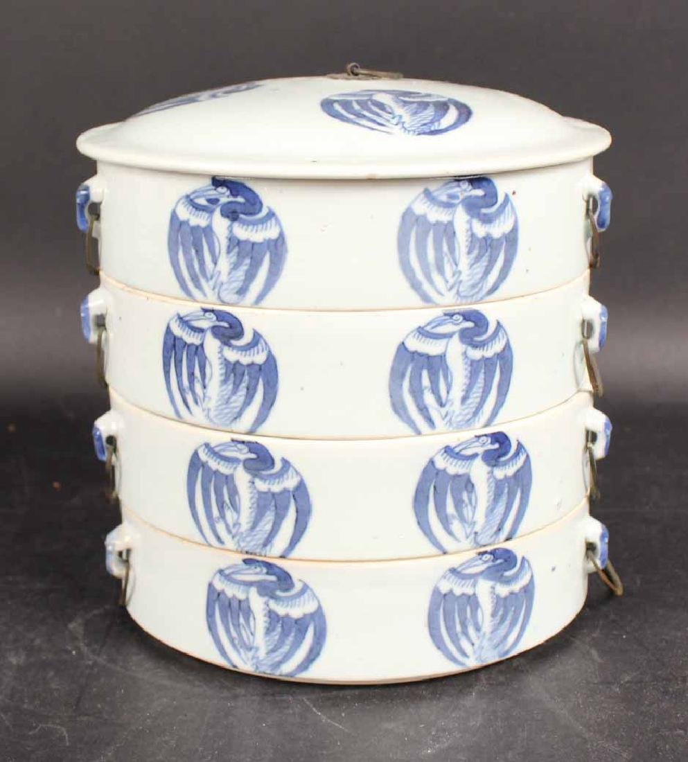 Chinese Blue and White Porcelain Stacking Box Set