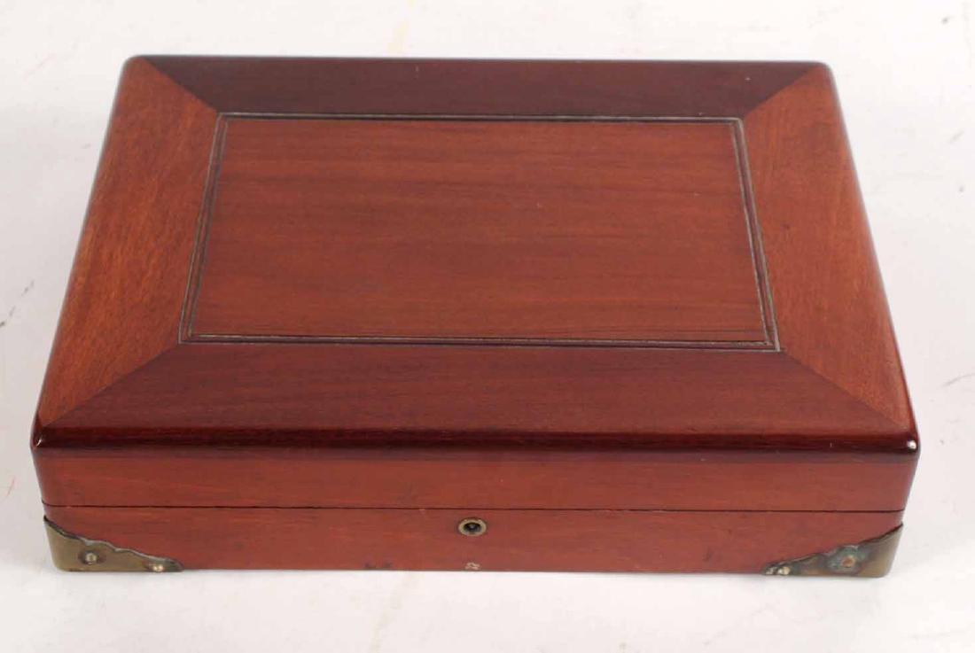 American Mahogany Hinged Lidded Gaming Box