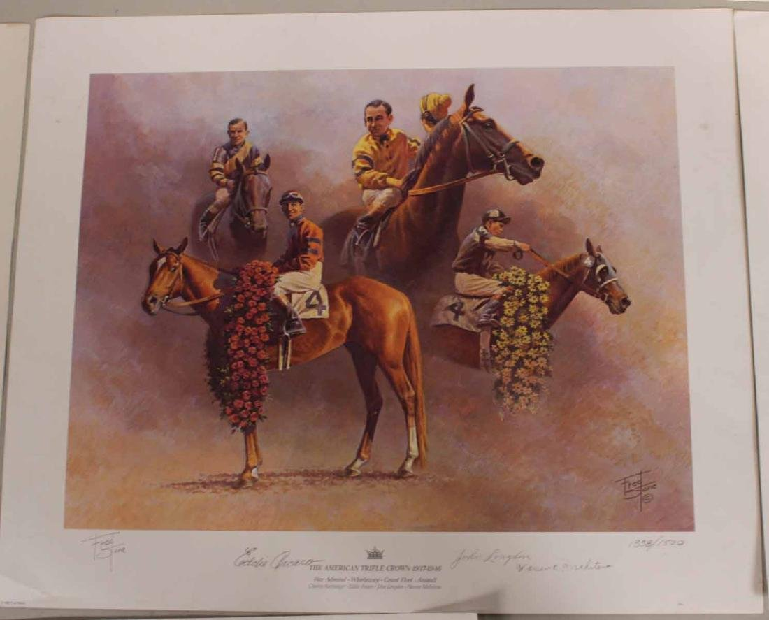 Eight Fred Stone Horse Racing Lithographs - 10