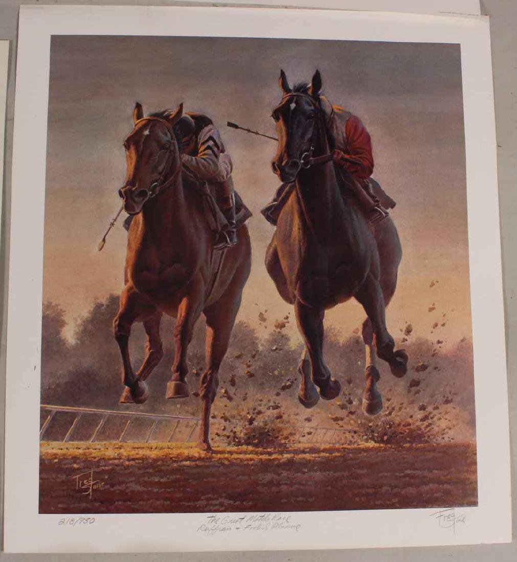 Eight Fred Stone Horse Racing Lithographs - 2