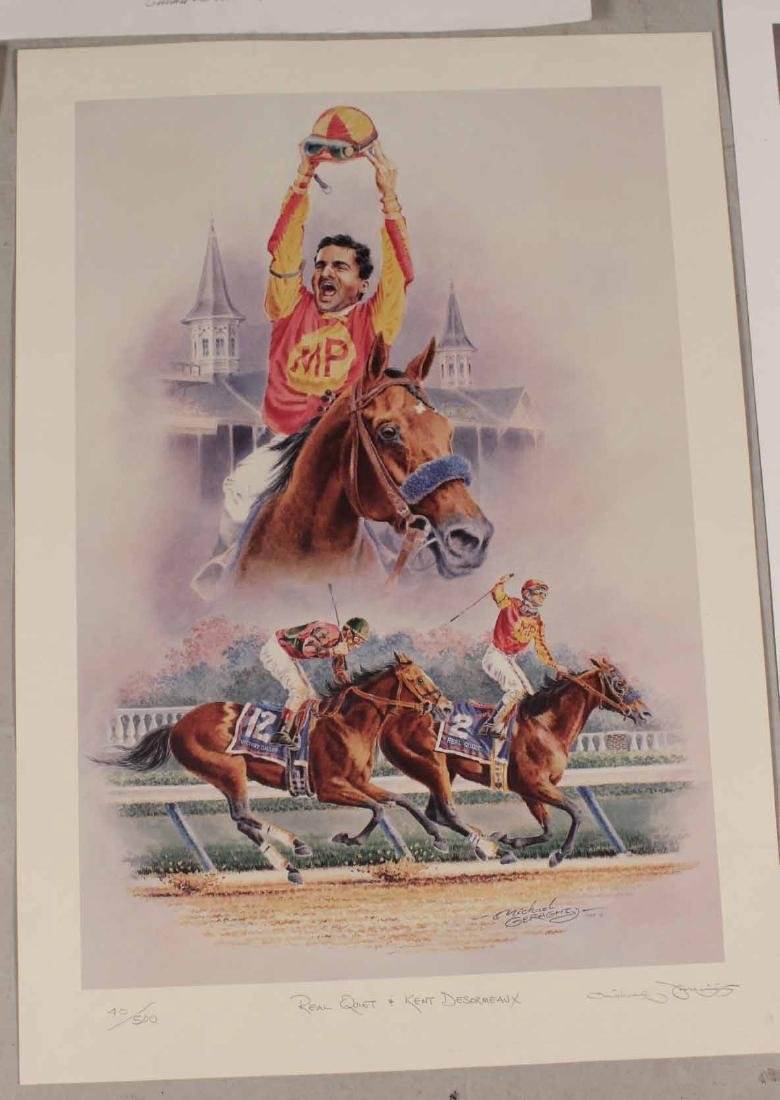 Eight Fred Stone Horse Racing Lithographs - 3