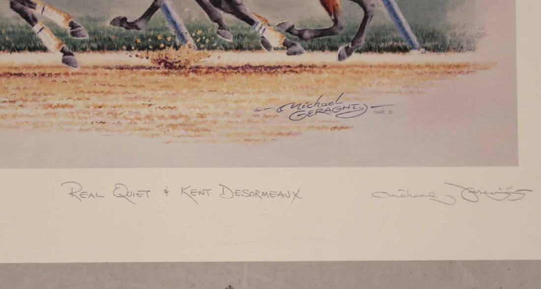 Eight Fred Stone Horse Racing Lithographs - 4