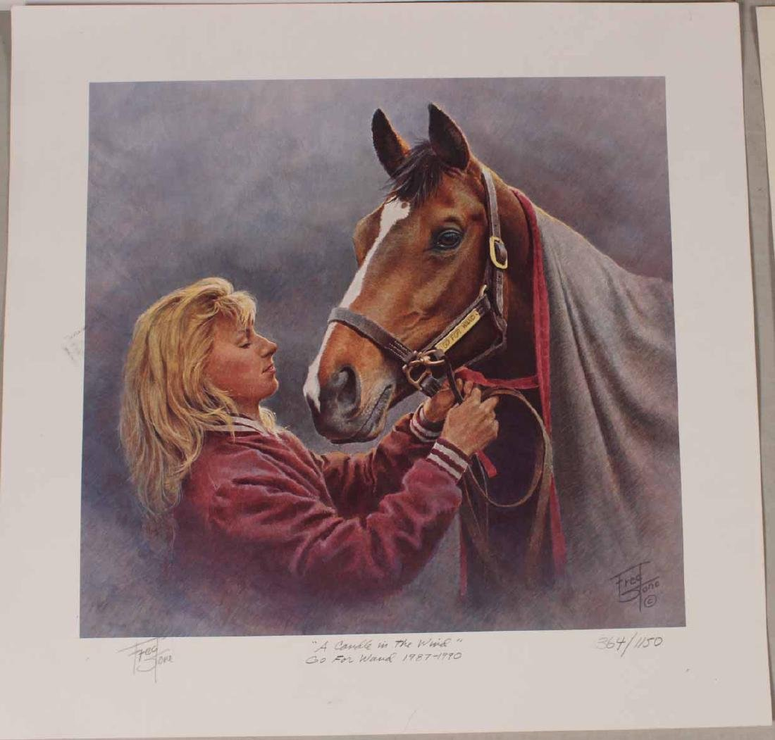 Eight Fred Stone Horse Racing Lithographs - 5