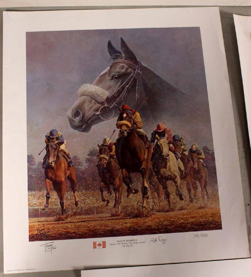 Eight Fred Stone Horse Racing Lithographs - 6
