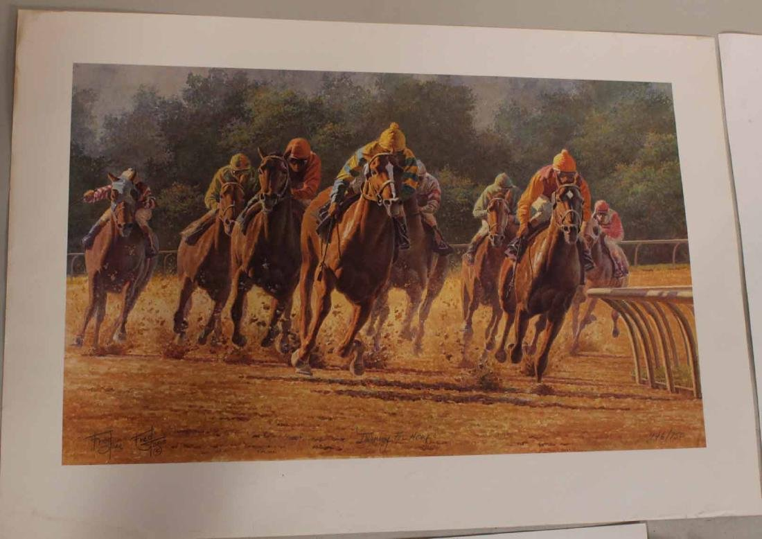 Eight Fred Stone Horse Racing Lithographs - 7