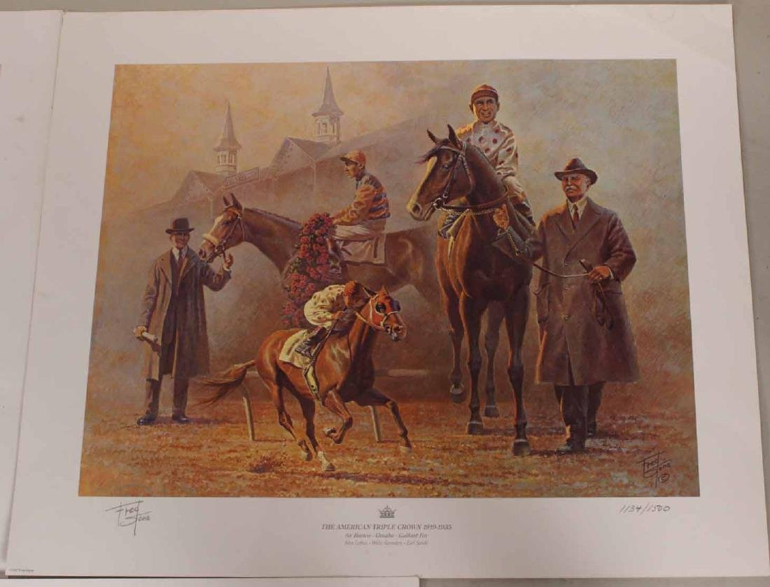 Eight Fred Stone Horse Racing Lithographs - 8
