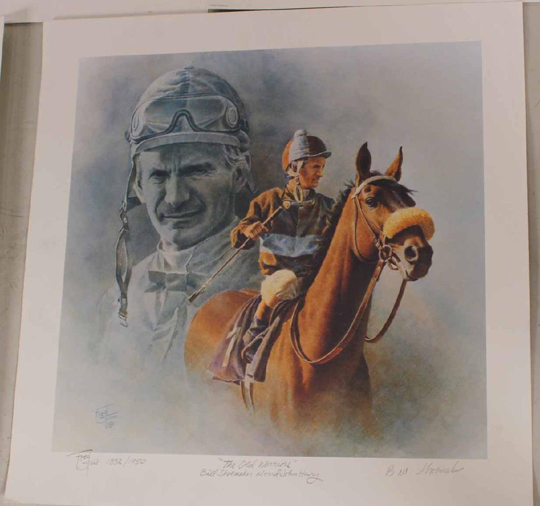 Eight Fred Stone Horse Racing Lithographs - 9