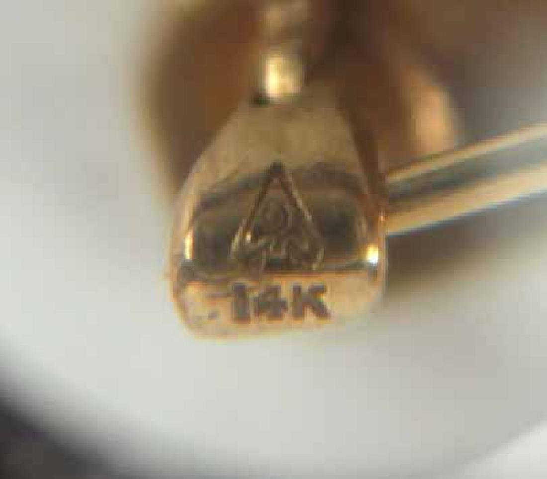 Pair of Tiffany 14K Yellow Gold Pins - 9